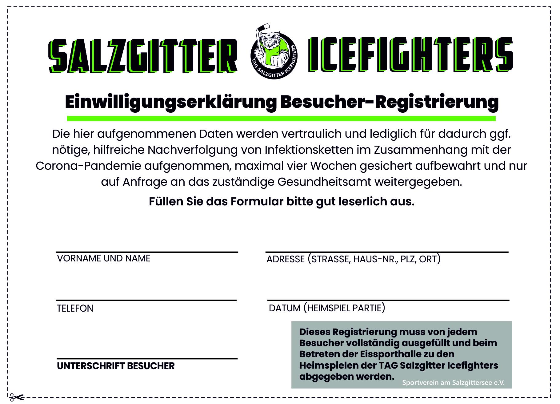Icefighters Corona Registrierung 2020 JPG